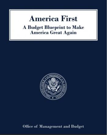 트럼프 정부가 17일(현지시간) 발표한 2018년 예산안 표지. - PDF 캡처 제공